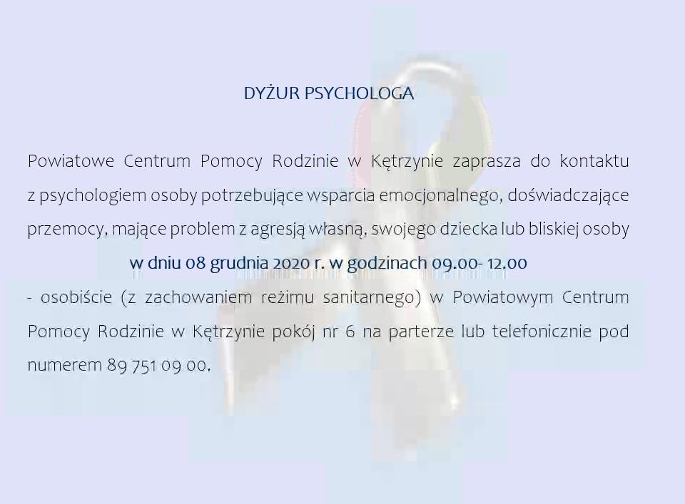 Dyżur psychologa