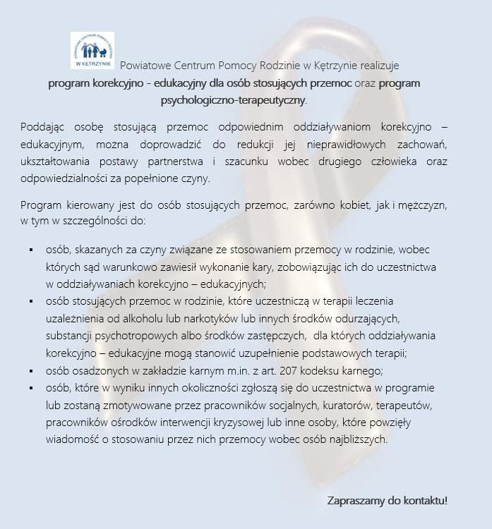Program korekcyjno-edukacyjny i psychologiczno-terapeutyczny
